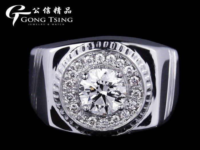 【公信精品】全新訂製鑽戒 1.00克拉 八心八箭 H&A 白K金天然鑽石戒指 1克拉鑽戒