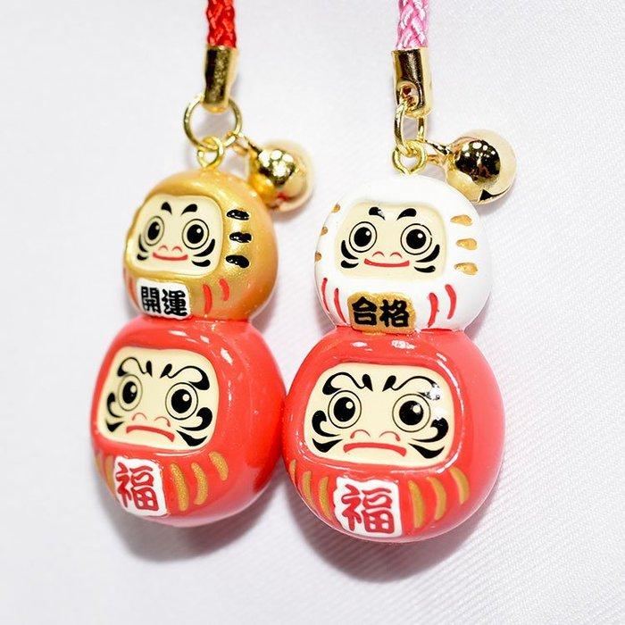達摩不倒翁 鈴鐺 吊飾 開運招福 日本帶回
