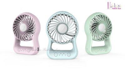 ☆[Hankaro]☆可愛造型多功能行動電源LED照明掌上型風扇