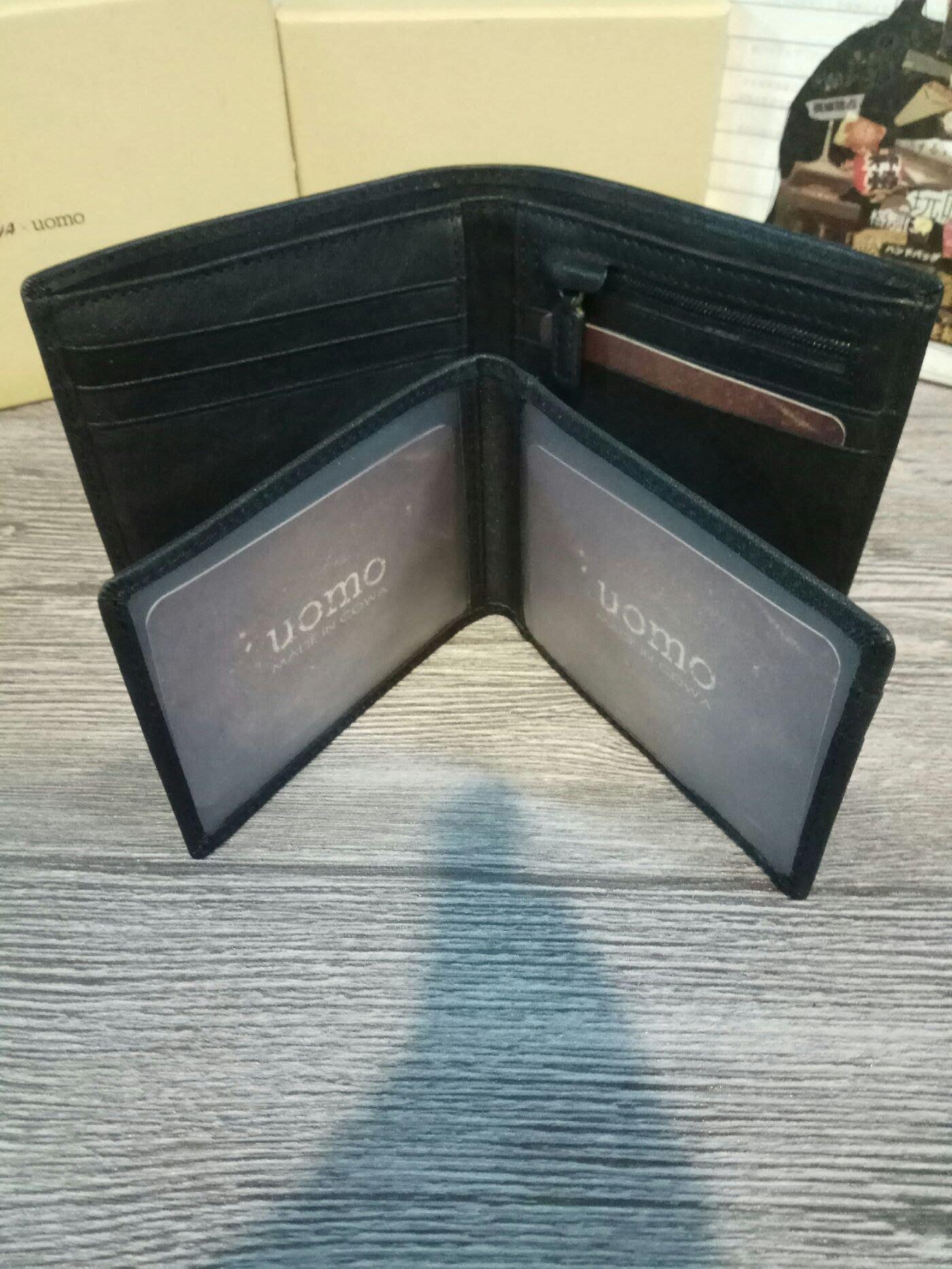 代購Cowa  UOMO款 男用皮夾 真皮 黑色CUMC3501ID