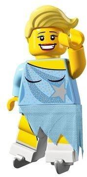 絕版品【LEGO 樂高】玩具 積木/ Minifigures人偶包系列: 4代 8804 單一人偶: 冰上舞者 溜冰