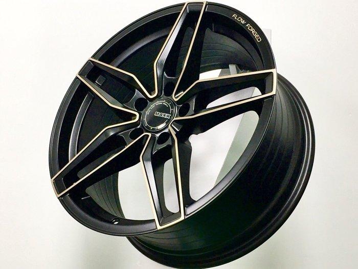 ╭☆輪鋪☆╯全新 (MAXX M08) 18吋5孔114.3 平光黑古銅車面 旋壓輕量化鋁圈-9KG