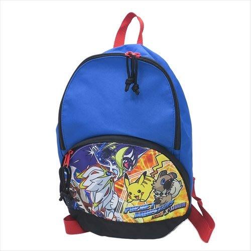 免運費~日本皮卡丘 寶可夢 神奇寶貝 兒童 後杯扣 後背包 書包 背包  輕背包 袋子 登機包 遠足 旅遊~安安購物城~