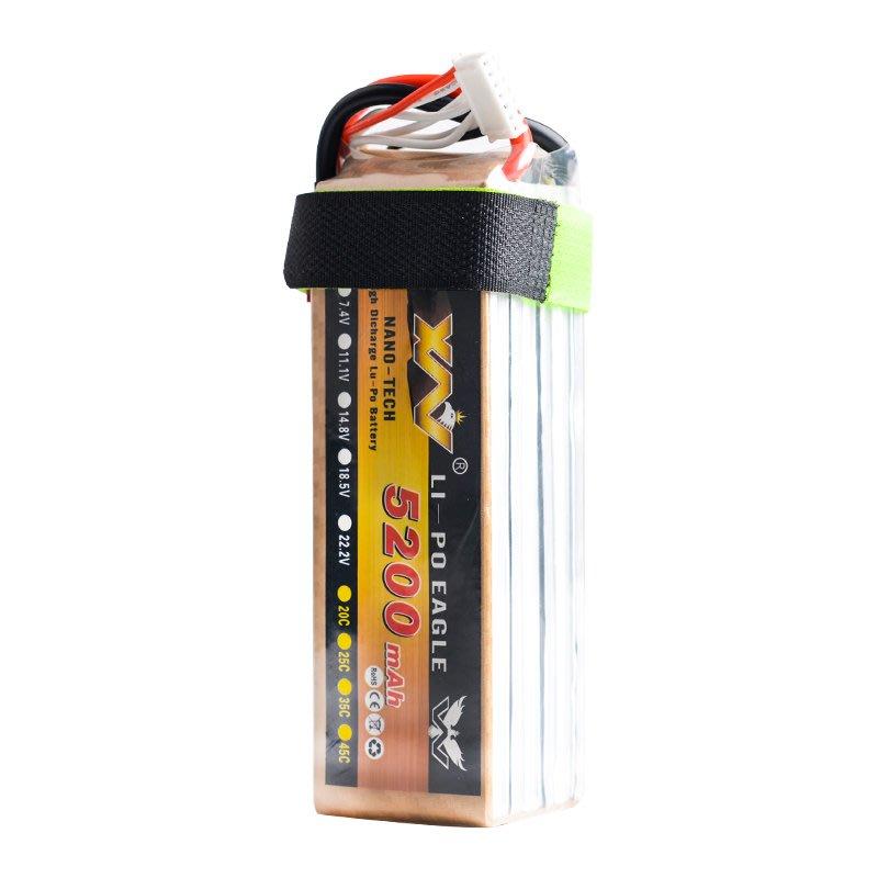 頑童遙控- 35C 5200mah 6s 22.2V 暴力 鋰電池 離電池 短款