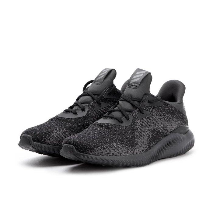 =CodE= ADIDAS ALPHABOUNCE EM 雪花編織網布慢跑鞋(黑) DB1090 輕量避震 男女 預購