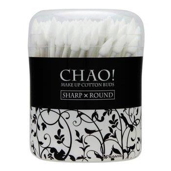 CHAO 清潔化妝棉花棒 尖頭+圓頭 130入 日本製【小7美妝】