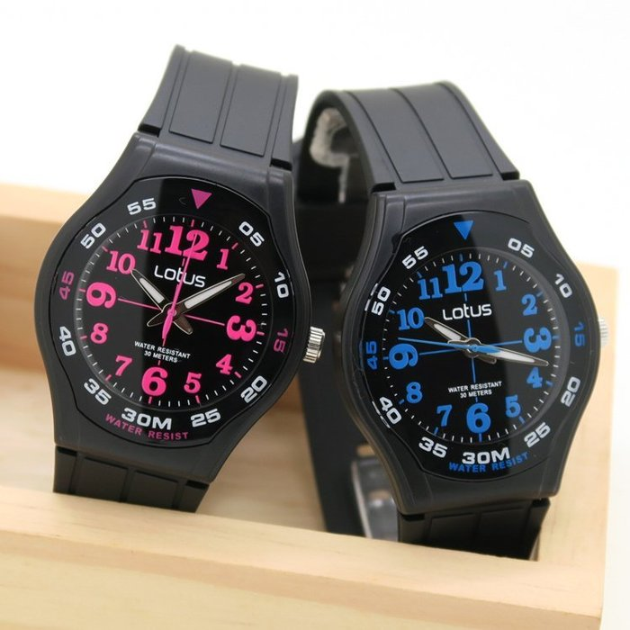 ~時光流域~ 專櫃品牌 LOTUS 外圈分鐘數字 防水30M 清晰數字 女錶 男錶 學生錶
