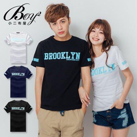 BOY2小二布屋-短T 情侶BROOKLYN印花短袖T恤【PPK82151】