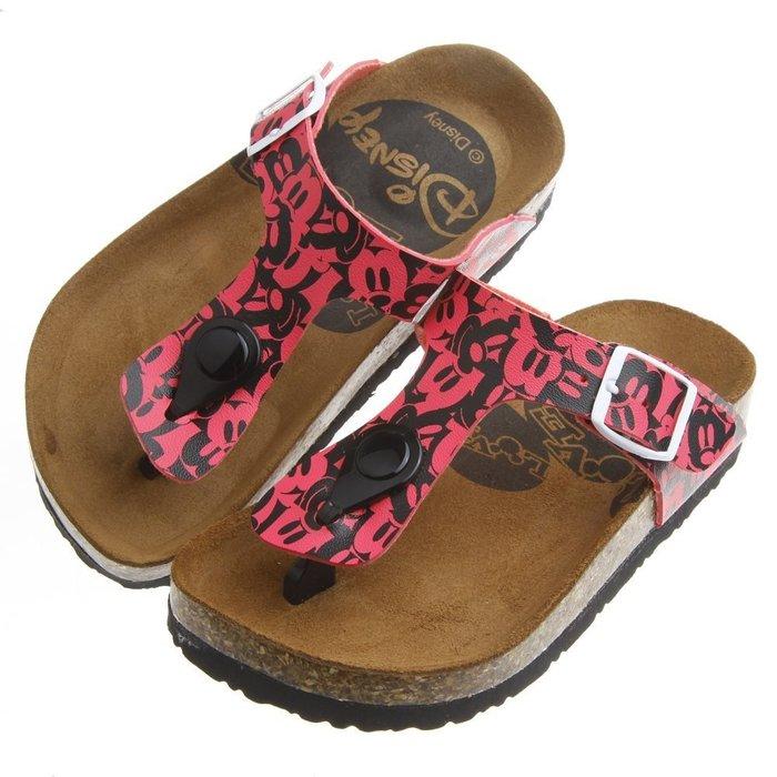 童鞋 Disney迪士尼米老鼠親子系列桃色兒童歐風氣墊涼鞋 16~21公分  MHR749