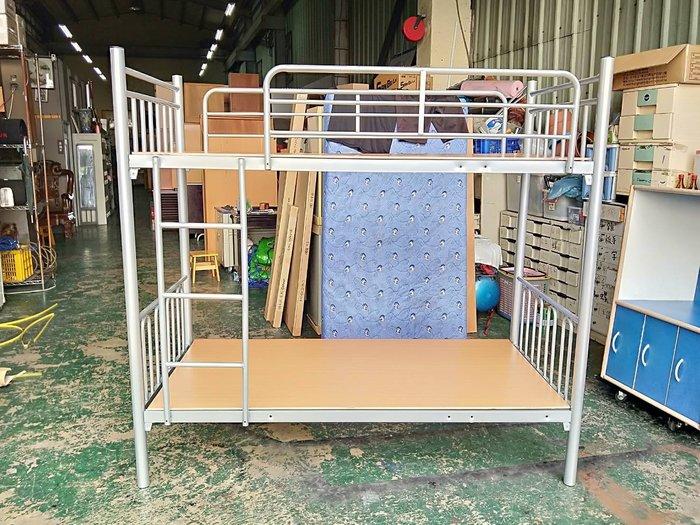 非凡精品家具 全新 烤銀 3尺雙層鐵床*實木上下舖*上下床*子母床*單人床架