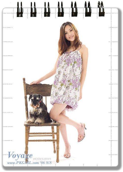 《PINK‧COM》轉賣<Play_Kawaii>PKGIRL自創品牌-雪紡紗質花苞燈籠小洋裝