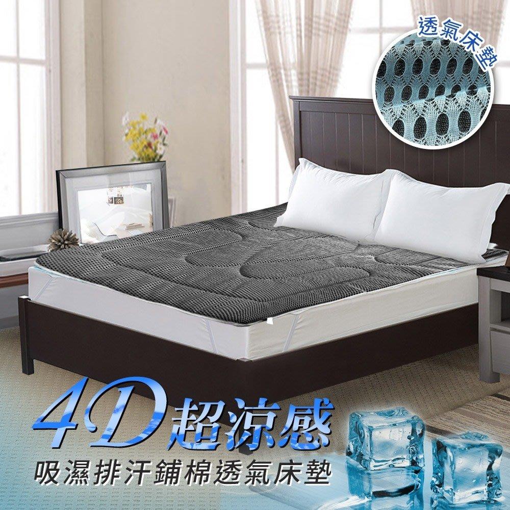 MIT國際大廠吸濕排汗4D蜂巢式超涼感透氣加大床墊-2色