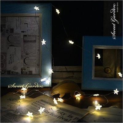 Sweet Garden, 2米20燈星星造型燈串 暖白光迷你星星燈珠 可簡易塑形 電池盒開關 沒送電池