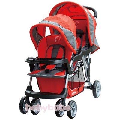 Grace[恩典] [babybabe] B329 歐風雙人嬰兒手推車**紅色