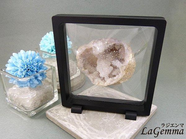 ☆寶峻晶石☆新品~最新穎的時尚居家裝飾,【漂浮寶石相框】白色水光水晶 FF 相框可打開更換內容物
