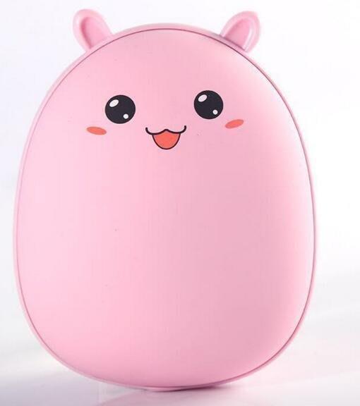 新款迷你萌寵兔熊可愛充電暖手寶 usb充電寶 創意卡通移動電源 #3781