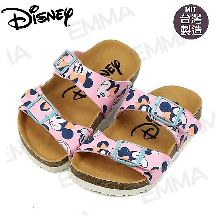 童鞋/正版Disney迪士尼米妮可調整氣墊拖鞋.童鞋.粉色(15-19號117022)