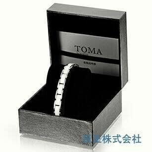 日本 日王株式會社 TOMA 白陶瓷/磁力/磁石 男/女健康銀色手鍊~需預購