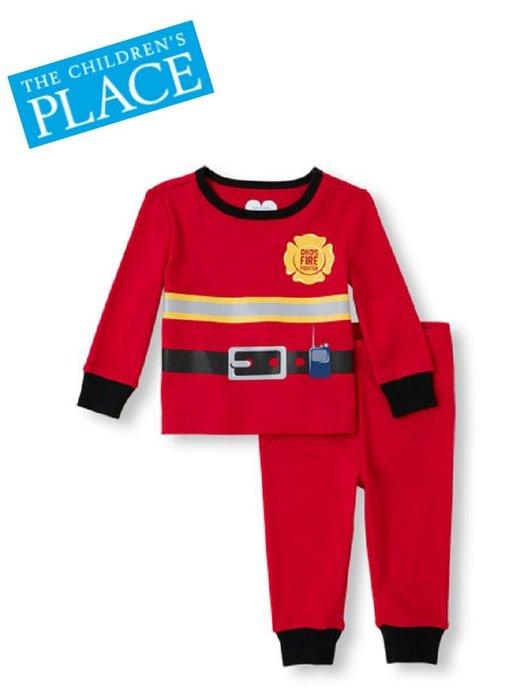 妙寶貝♡Place 帥氣消防員紅底長袖套裝(2T)另Carter、Oshkosh、Carzy8、Gymboree