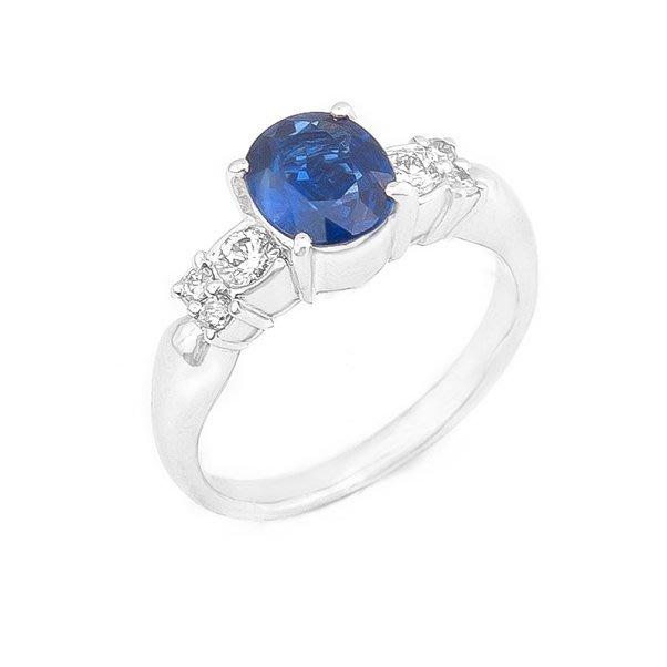【JHT 金宏總珠寶/GIA鑽石專賣】1.44ct天然藍寶鑽石戒指/材質:PT900/附證書(JB29-A15)