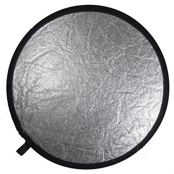 呈現攝影-二合1顆粒銀反光板 專業反光板 大型110cm  顆粒銀+白加收納帶x1人像首選