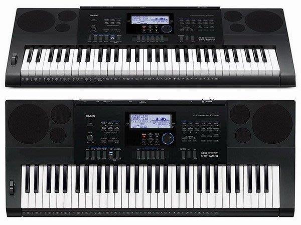 ☆ 唐尼樂器︵☆ CASIO 卡西歐 CTK-6200 61鍵電子琴(全新高階琴款,加贈琴袋/大延音踏板等超值配件)