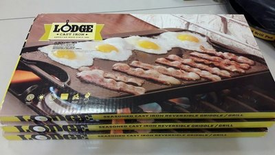 美國製 LODGE Logic Pro Grid / Iron Grid LPGI3 兩用雙面長方深型平底煎鍋/烤盤