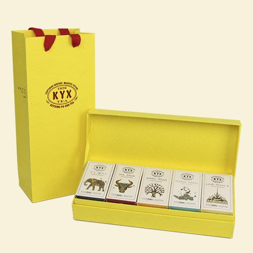 牛助坊~百年可以興 普洱茶生茶 茶柱 2016 勐巴拉娜系列—磚柱好茶 易武、帕沙、勐宋、景邁、老曼峨茶區 禮盒套組