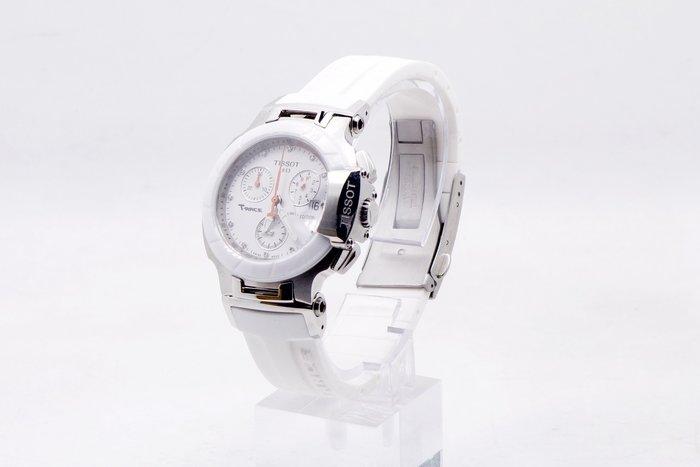 【台中青蘋果】天梭 Tissot 璀璨永恆真鑽陶瓷計時腕錶 T0482172701600 #23794