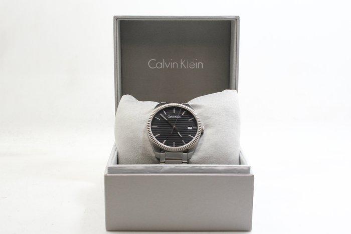 【高雄青蘋果3C】CK Calvin Klein 橫紋設計時尚腕錶 K5R31141 黑銀 40mm  #20035