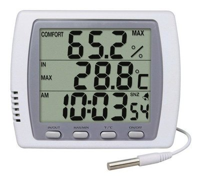 TECPEL 泰菱 》DTM-303H 室內外二用大型顯示溫濕度計/溫溼度計+時間鬧鈴 DTM303H 溫濕度 濕度