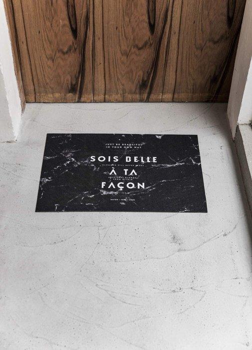 - Meiprunus -原創 設計 北歐 簡約 黑色大理石紋 地毯 腳踏墊 地墊 衛浴 浴室 廚房 防滑墊