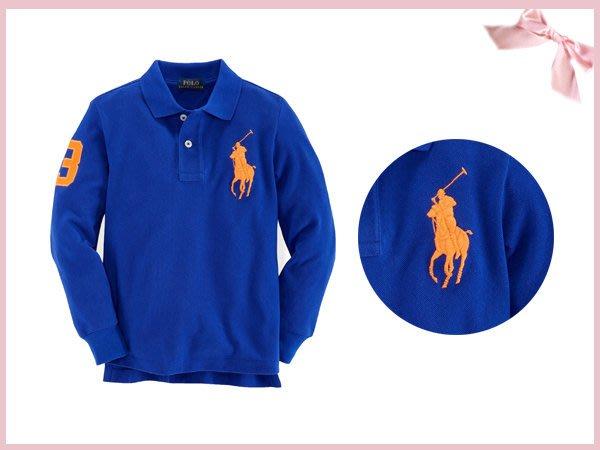 【童夢屋】RALPH LAUREN藍POLO衫 .大馬上衣12.18.24M.2.3T【8817857535】特價