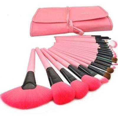 【愛來客 】粉紅色專業24件MAKE-UP FOR YOU彩妝刷具組只要450元 乙丙級考試批發非專櫃品