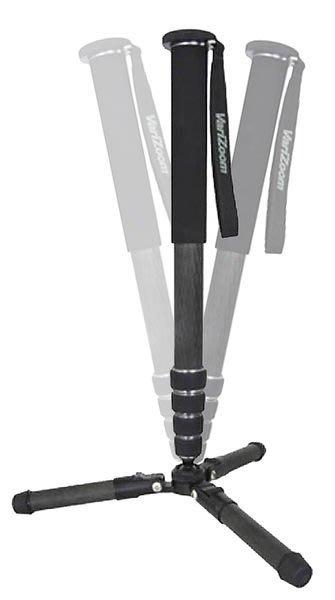 呈現攝影- VARIZOOM 碳纖5節單腳架 雞爪單腳架 腳釘 腳架可拆 重0.98kg 麥克風/閃燈架 離機閃