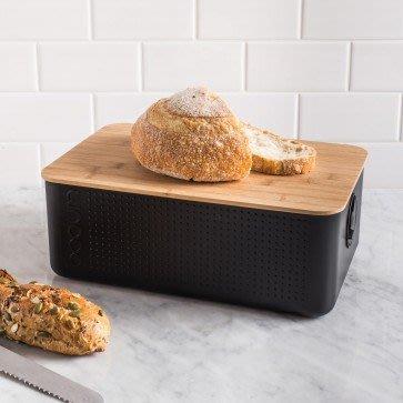 丹麥  BODUM BISTRO 麵包盒 黑 (大)