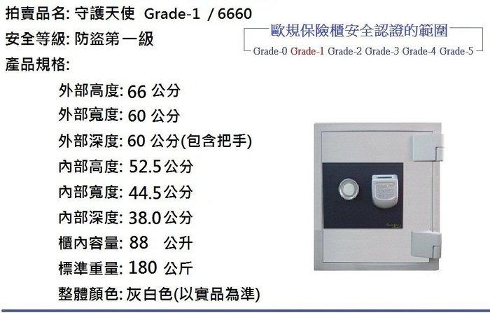守護天使保險櫃,Guardian Angel Grade-1(防盜第一級)型號: 6660,傳家寶金庫,個人專用金匱
