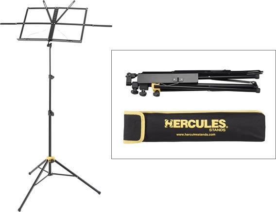 【六絃樂器】全新 Hercules BS050B 摺疊式小譜架 / 收折不佔空間 附收納攜行袋