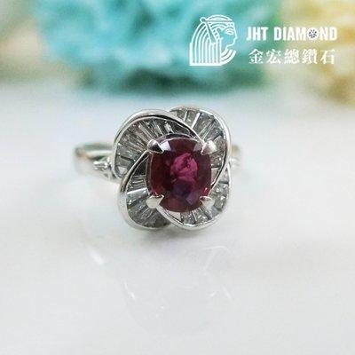 【JHT金宏總珠寶/GIA鑽石專賣】天然紅寶鑽石戒 ( JB23-A077 )