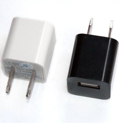 小白的 工場~迷你型AC 轉 USB充 1A  黑 白 二色 選 ~檢磁合格~