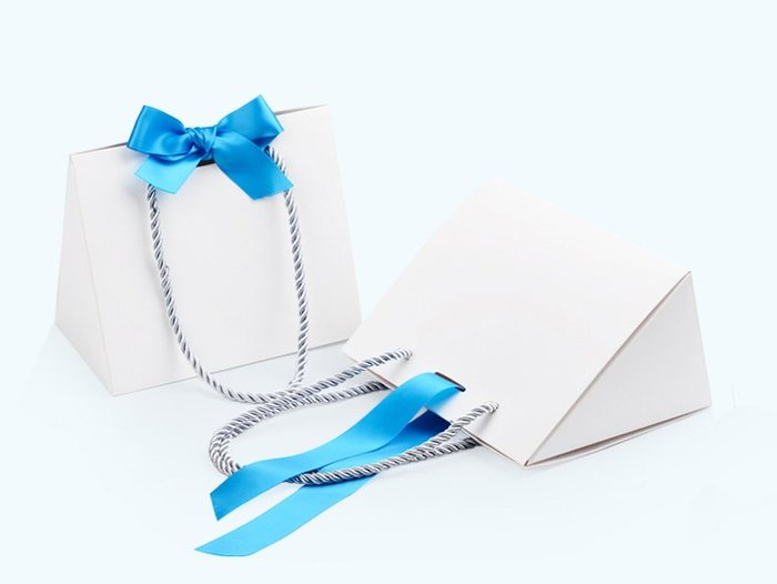 訂單LOGO客製化折疊造型珠寶提袋.手提袋~顏色:白色.首飾袋飾品禮品批發(另售擦金布.洗銀水.擦銀膏)