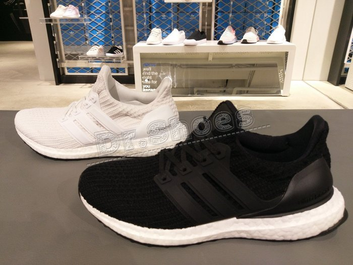 【Dr.Shoes 】Adidas Ultra Boost 4.0 女鞋 編織 慢跑鞋 黑BB6149 白BB6308
