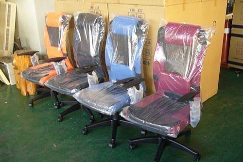 樂居二手家具 全新超透氣網狀護腰辦公椅* 電腦椅書桌椅中古OA設備4折拍賣辦公桌會議桌 麻將桌椅