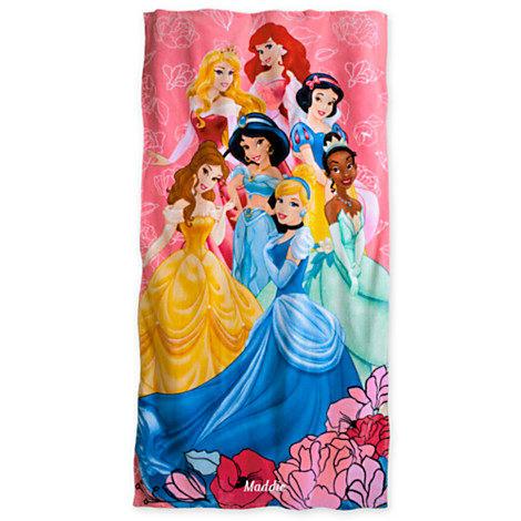 【安琪拉 美國童裝】Disney Store 美國迪士尼公主浴巾, 迪士尼公主浴袍泳衣泳裝