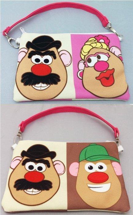 ~卡通聯盟~孩之寶 玩具總動員 蛋頭先生  手機包 化妝包 手拿包 萬用包