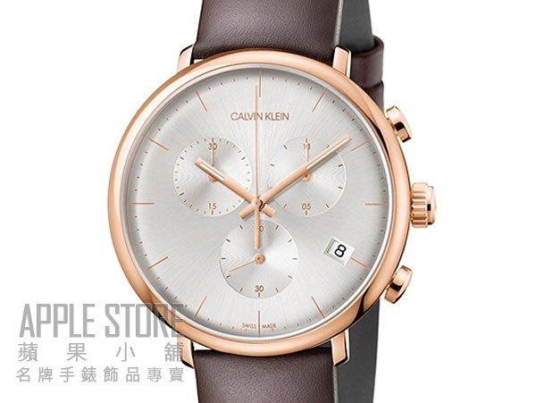 【蘋果小舖】Calvin Klein 時尚雅痞計時皮帶腕錶- 玫瑰金 K8M276G6