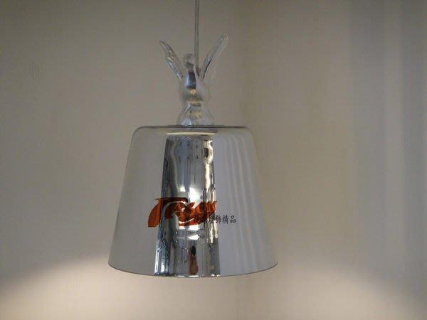 ~ JASONLIGHT~ JA-D-00084~ 和 平 鴿 吊 燈 - 電 鍍 銀 小 款 版