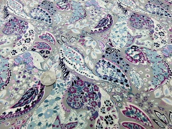 ~厚棉布 印花布,復古風格,古著,, 藝拼布,棉麻,布襯,鋪棉 零售)~~變形葉子~