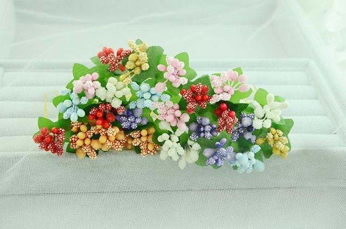 新娘韓式綠色漿果U型小發釵滿天星頭飾海邊頭花結婚 婚禮發飾髮飾髮圈髮夾髮箍新娘套裝結婚金色