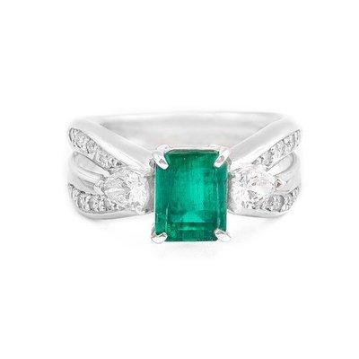 【JHT金宏總珠寶/GIA鑽石專賣】1.52ct天然祖母綠鑽戒/材質:PT900(E00009)